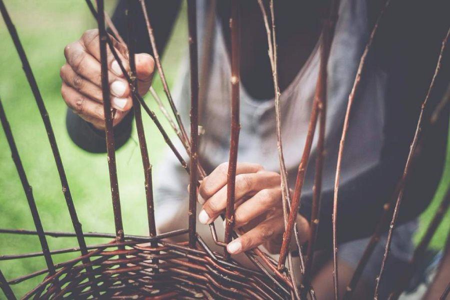 Czech handmade products made by Sheltered workshops Kopeček - wicker basket.